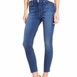 7FAM b(air) Raw Hem Ankle Skinny Jeans Sz. 26